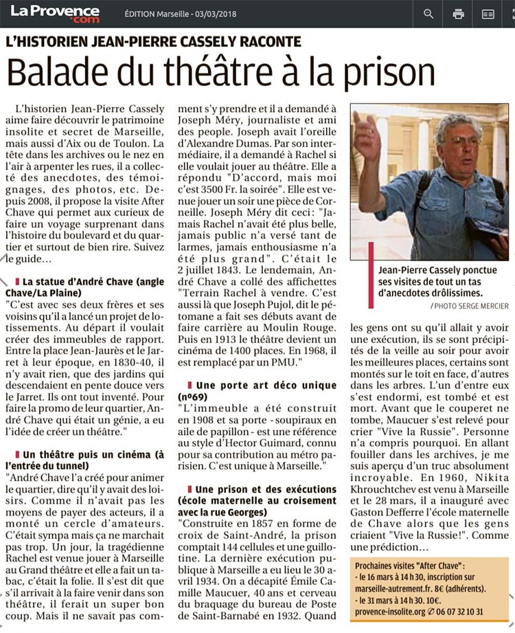 la provence article boulevard chave after chave